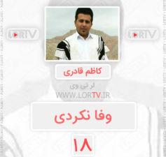 آهنگ لری وفا نکردی از کاظم قادری شاد